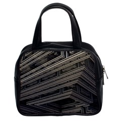 Fractal 3d Construction Industry Classic Handbags (2 Sides)