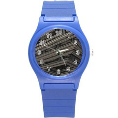 Fractal 3d Construction Industry Round Plastic Sport Watch (s) by BangZart