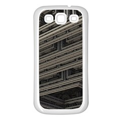 Fractal 3d Construction Industry Samsung Galaxy S3 Back Case (white) by BangZart