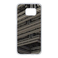 Fractal 3d Construction Industry Samsung Galaxy S7 Edge White Seamless Case by BangZart