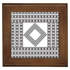 Pattern Background Texture Black Framed Tiles by BangZart