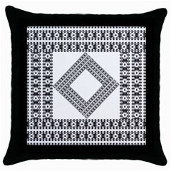 Pattern Background Texture Black Throw Pillow Case (black) by BangZart