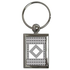 Pattern Background Texture Black Key Chains (rectangle)  by BangZart