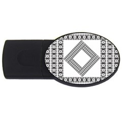 Pattern Background Texture Black Usb Flash Drive Oval (4 Gb) by BangZart
