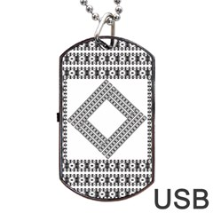 Pattern Background Texture Black Dog Tag Usb Flash (two Sides) by BangZart
