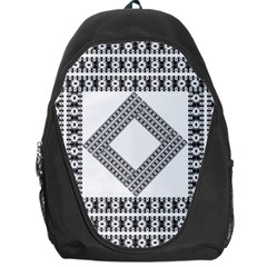 Pattern Background Texture Black Backpack Bag by BangZart