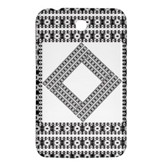 Pattern Background Texture Black Samsung Galaxy Tab 3 (7 ) P3200 Hardshell Case