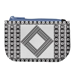 Pattern Background Texture Black Large Coin Purse