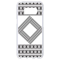 Pattern Background Texture Black Samsung Galaxy S8 White Seamless Case by BangZart