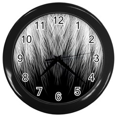 Feather Graphic Design Background Wall Clocks (black) by BangZart