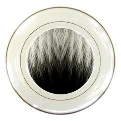 Feather Graphic Design Background Porcelain Plates by BangZart