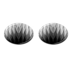 Feather Graphic Design Background Cufflinks (oval) by BangZart