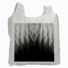 Feather Graphic Design Background Recycle Bag (one Side) by BangZart