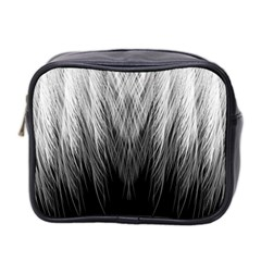 Feather Graphic Design Background Mini Toiletries Bag 2 Side