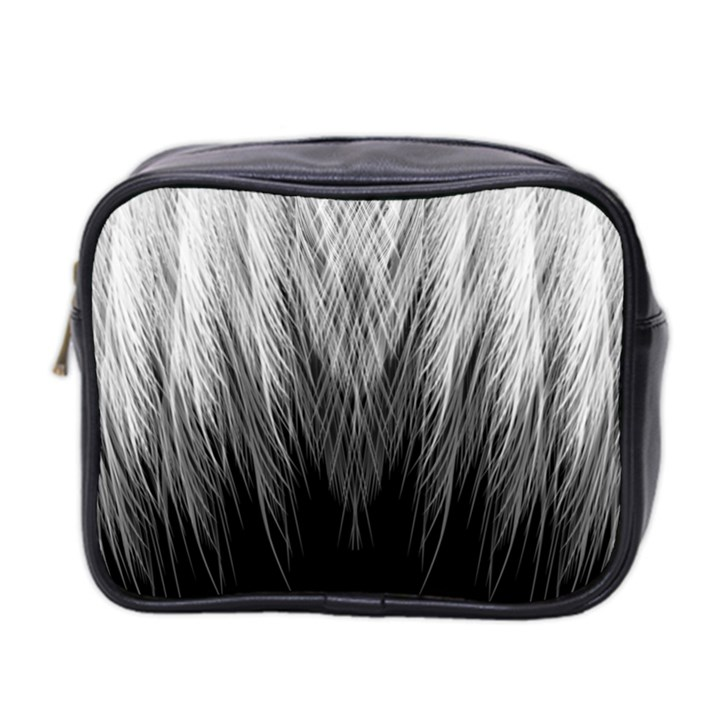 Feather Graphic Design Background Mini Toiletries Bag 2-Side