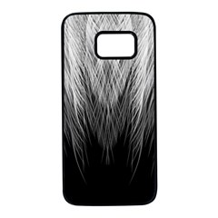 Feather Graphic Design Background Samsung Galaxy S7 Black Seamless Case