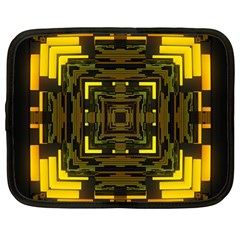 Abstract Glow Kaleidoscopic Light Netbook Case (large) by BangZart