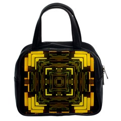 Abstract Glow Kaleidoscopic Light Classic Handbags (2 Sides) by BangZart
