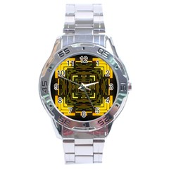 Abstract Glow Kaleidoscopic Light Stainless Steel Analogue Watch by BangZart