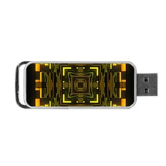 Abstract Glow Kaleidoscopic Light Portable Usb Flash (two Sides) by BangZart