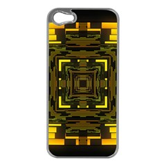 Abstract Glow Kaleidoscopic Light Apple Iphone 5 Case (silver) by BangZart
