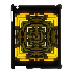 Abstract Glow Kaleidoscopic Light Apple Ipad 3/4 Case (black)