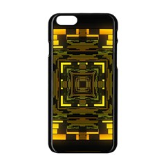 Abstract Glow Kaleidoscopic Light Apple Iphone 6/6s Black Enamel Case by BangZart