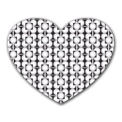 Pattern Background Texture Black Heart Mousepads by BangZart