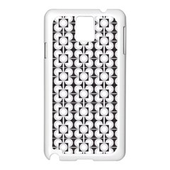 Pattern Background Texture Black Samsung Galaxy Note 3 N9005 Case (white) by BangZart