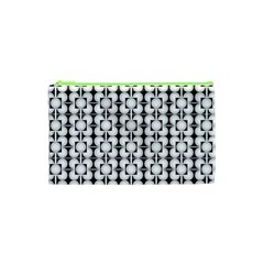 Pattern Background Texture Black Cosmetic Bag (xs) by BangZart