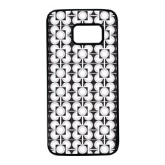 Pattern Background Texture Black Samsung Galaxy S7 Black Seamless Case by BangZart