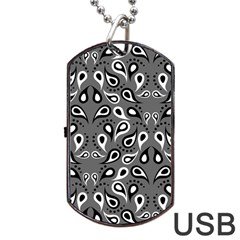 Paisley Pattern Paisley Pattern Dog Tag Usb Flash (two Sides) by BangZart