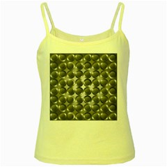 Metal Circle Background Ring Yellow Spaghetti Tank