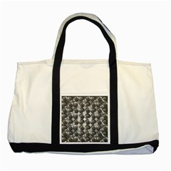 Metal Circle Background Ring Two Tone Tote Bag by BangZart