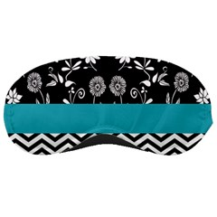 Flowers Turquoise Pattern Floral Sleeping Masks