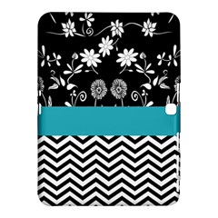 Flowers Turquoise Pattern Floral Samsung Galaxy Tab 4 (10 1 ) Hardshell Case  by BangZart