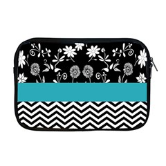 Flowers Turquoise Pattern Floral Apple Macbook Pro 17  Zipper Case