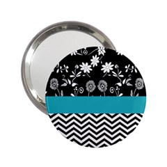 Flowers Turquoise Pattern Floral 2 25  Handbag Mirrors by BangZart