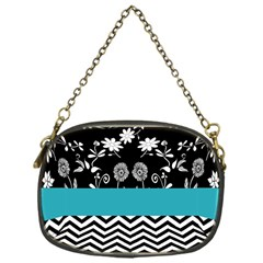 Flowers Turquoise Pattern Floral Chain Purses (one Side)  by BangZart