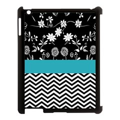 Flowers Turquoise Pattern Floral Apple Ipad 3/4 Case (black) by BangZart