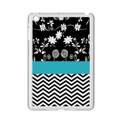 Flowers Turquoise Pattern Floral Ipad Mini 2 Enamel Coated Cases by BangZart
