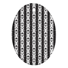 Pattern Background Texture Black Oval Ornament (two Sides) by BangZart