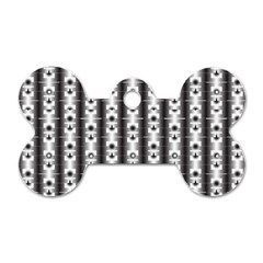 Pattern Background Texture Black Dog Tag Bone (two Sides) by BangZart