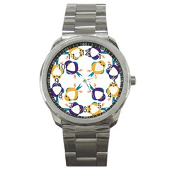 Pattern Circular Birds Sport Metal Watch by BangZart