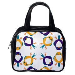 Pattern Circular Birds Classic Handbags (one Side) by BangZart