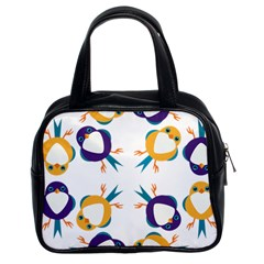 Pattern Circular Birds Classic Handbags (2 Sides) by BangZart