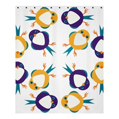 Pattern Circular Birds Shower Curtain 60  X 72  (medium)  by BangZart