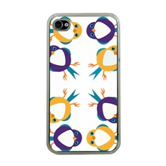 Pattern Circular Birds Apple Iphone 4 Case (clear) by BangZart
