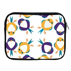 Pattern Circular Birds Apple Ipad 2/3/4 Zipper Cases