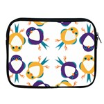 Pattern Circular Birds Apple iPad 2/3/4 Zipper Cases Front